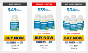 Proven supplement price
