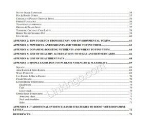 the parkinsons protocol table of contents