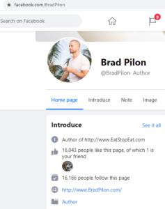 Brad Pilon facebook