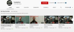 Brad Pilon youtube channel
