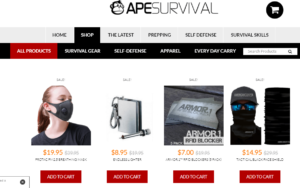 Ape survival website