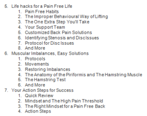 back pain breakthrough table of contents2