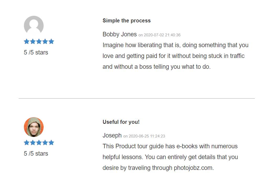 pj customer review
