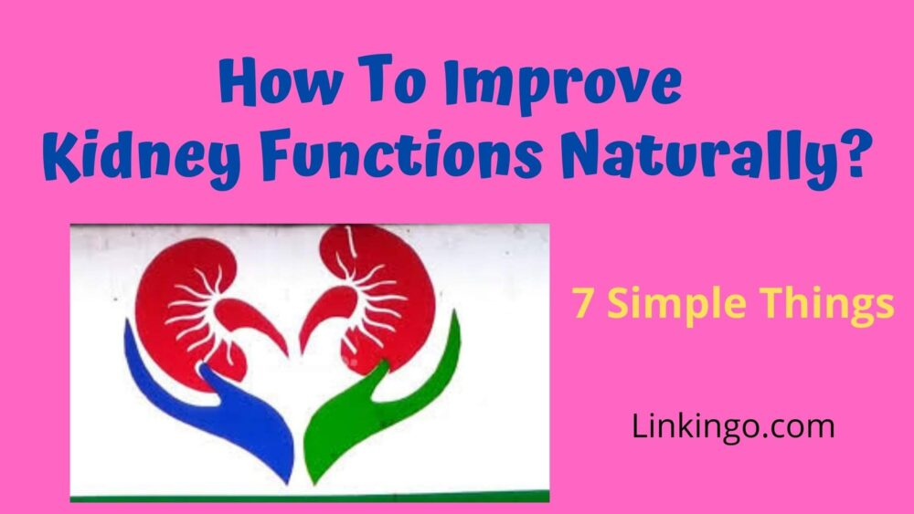 how to improve kidney functions naturally